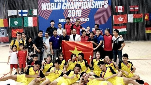 Vietnam comes first at World Shuttlecock Championship in France hinh anh 1