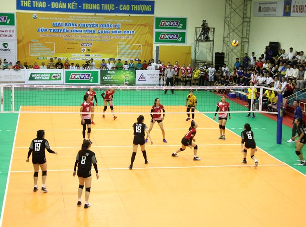 Vinh Long Television Cup int'l volleyball tournament kicks off hinh anh 1