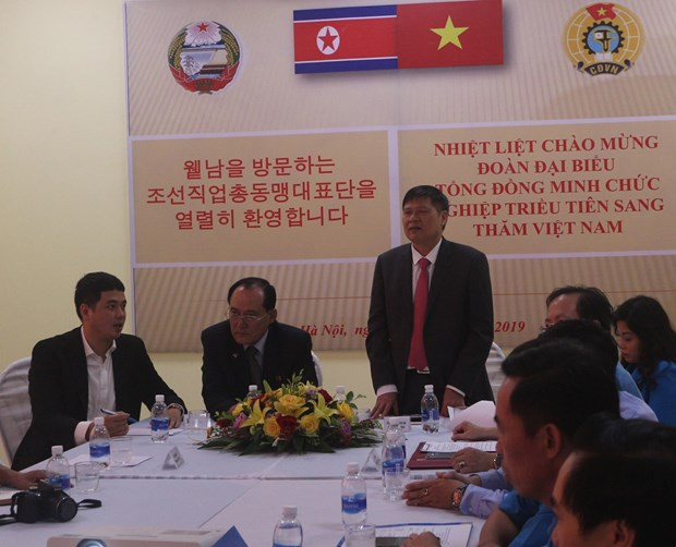 DPRK trade union delegation visits Ha Nam hinh anh 1