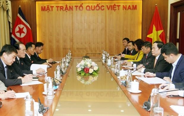 Front leader receives Chairman of DPRK's trade union agency hinh anh 1