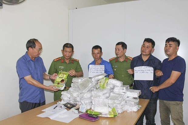 Dien Bien: three arrested for smuggling 50 kg of meth hinh anh 1