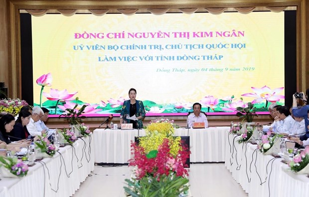 NA Chairwoman lauds Dong Thap's agriculture, rural development hinh anh 1