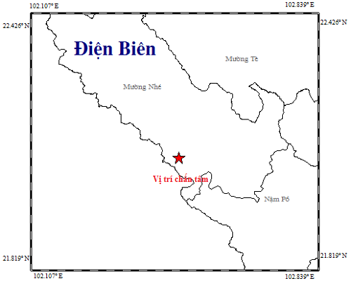 Dien Bien reports 8th earthquake in 2019 hinh anh 1