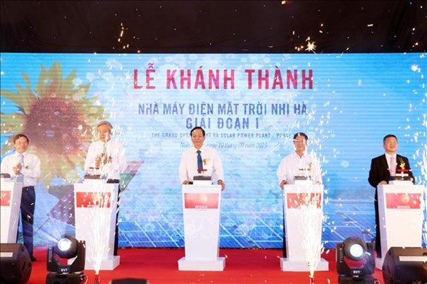 Another solar power plant inaugurated in Ninh Thuan hinh anh 1