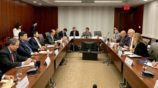 Vietnamese Party delegation studies US's policies hinh anh 1