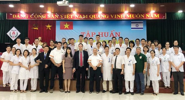 Israeli Embassy funds cardiovascular training courses in four provinces hinh anh 1