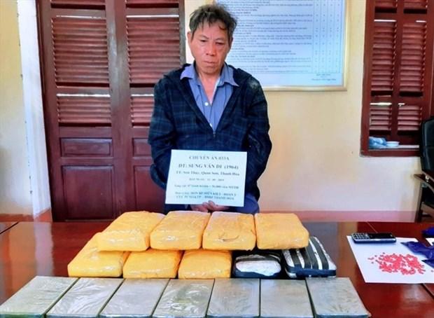 Thanh Hoa border guards seize seven bricks of heroin hinh anh 1