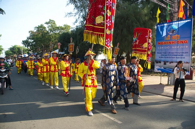 HCM City: Nghinh Ong festival in full swing in Can Gio hinh anh 1