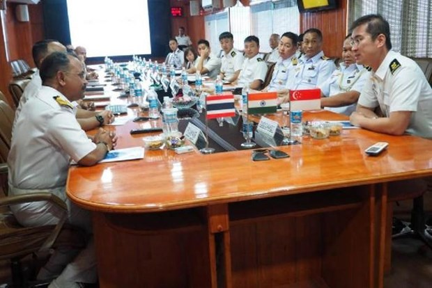 India, Thailand, Singapore hold first maritime exercise hinh anh 1
