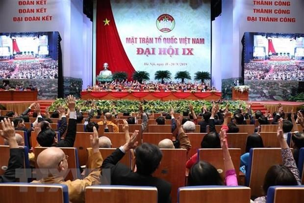 9th VFF National Congress convenes first working session hinh anh 1