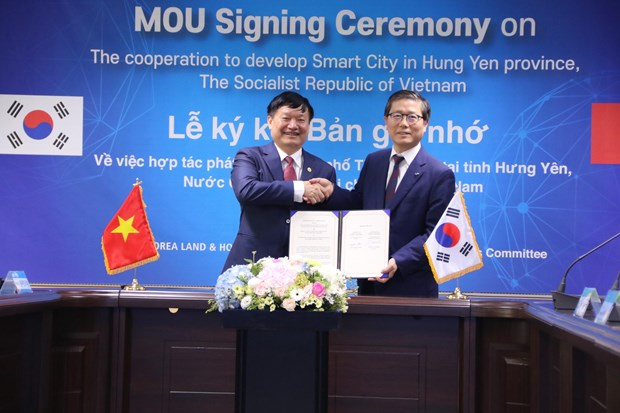 Korean group supports smart city development in Hung Yen hinh anh 1