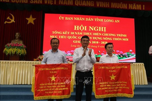 Long An: 77 communes recognised as new-style rural areas hinh anh 1