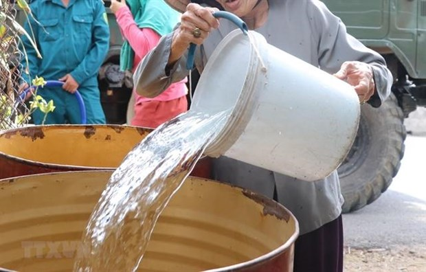 Nearly 10,000 households in Tra Vinh lack fresh water hinh anh 1