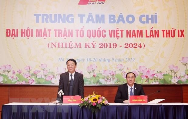 Press conference announces results of VFF's National Congress hinh anh 1