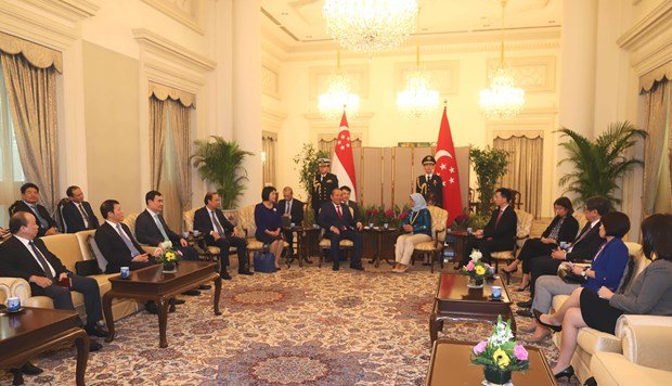 Deputy PM Truong Hoa Binh pays official visit to Singapore hinh anh 2