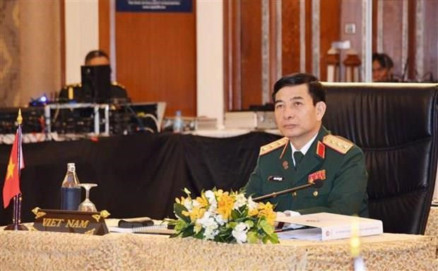 Vietnam's high-ranking military delegation visits Myanmar hinh anh 1