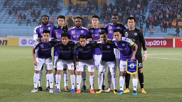 Hanoi FC tie with 4.25 SC in AFC Cup Inter-Zonal Final's first leg hinh anh 1