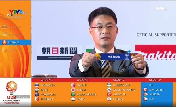 Vietnam in Group D of 2020 AFC U23 Championship's finals hinh anh 1