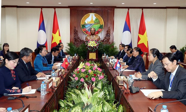 Vietnamese, Lao top legislators hold talks hinh anh 1