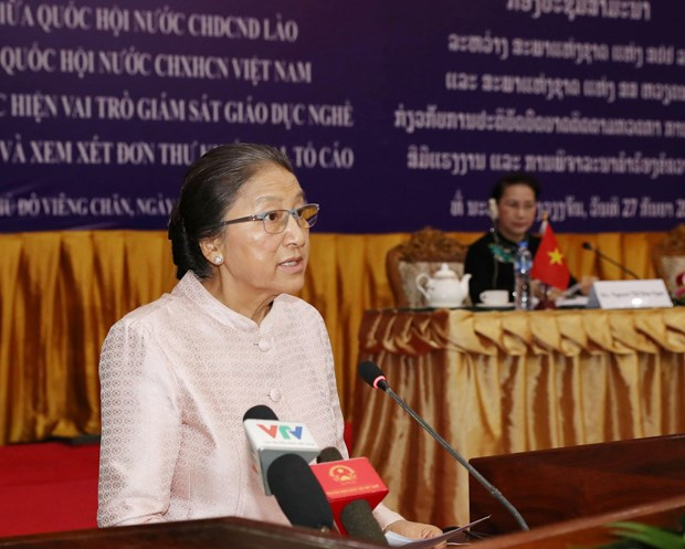 Lao top legislator highly values Vietnamese NA's experience hinh anh 1