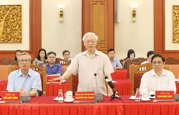 Former leaders give feedback on draft political report hinh anh 1