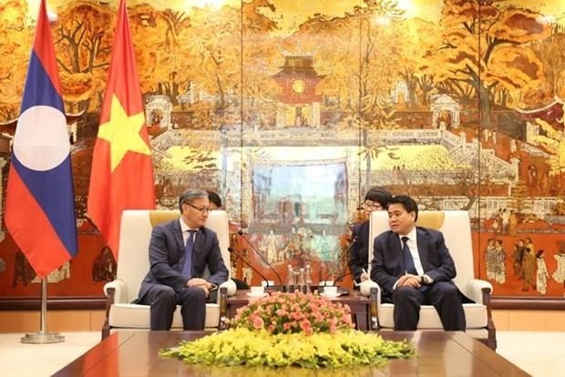 Hanoi leader lauds diplomat's efforts to connect city with Lao localities hinh anh 1