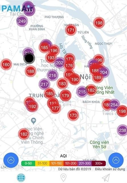 Air pollution in Hanoi exceeds red-warning level hinh anh 1