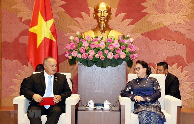NA Chairwoman receives Venezuelan guests hinh anh 1