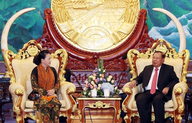 NA leader concludes Laos visit hinh anh 1