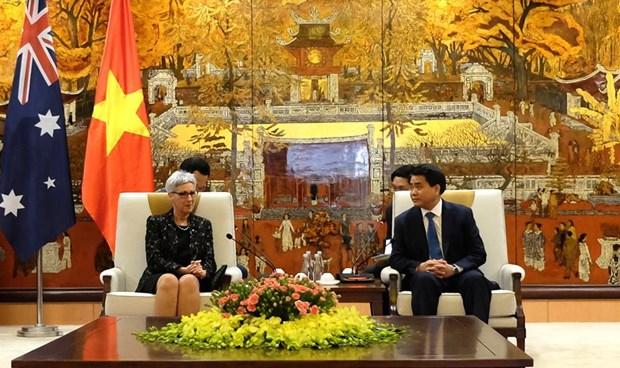 Hanoi, Australia's Victoria state enhance cooperation hinh anh 1