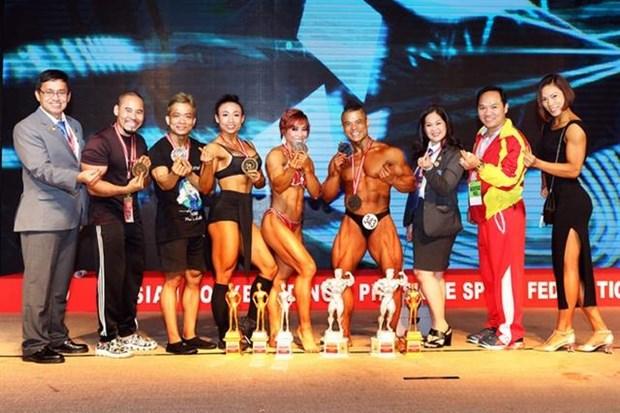 Vietnam wins nine golds at Asian bodybuilding championship hinh anh 1