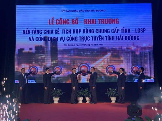 Hai Duong launches gov't service platform, portal hinh anh 1
