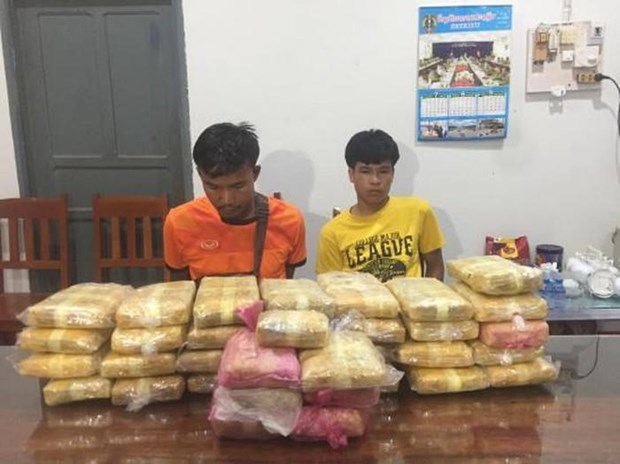 Vietnamese, Lao localities jointly bust massive drug trafficking ring hinh anh 1