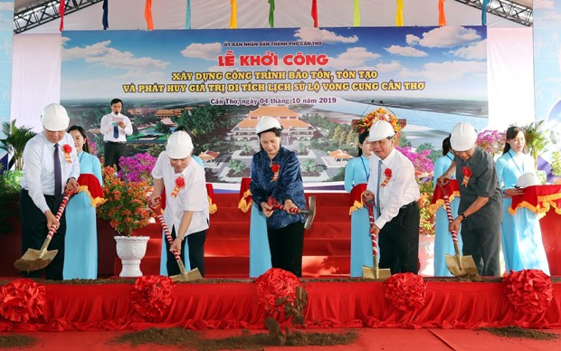NA leader attends ceremony to kick off work on Can Tho historical site hinh anh 1