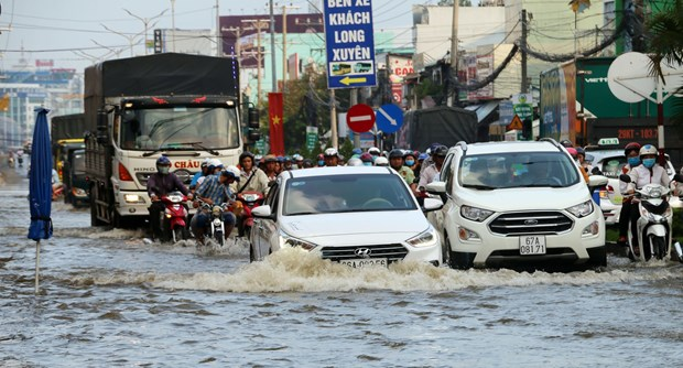 Southern region suffers from flooding, tidal surges hinh anh 1