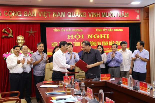 Hai Duong province boosts cooperation with neighbouring Bac Giang hinh anh 1
