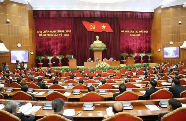 Party Central Committee discusses draft reports hinh anh 1