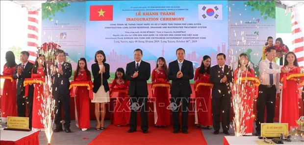 RoK-funded sewage treatment plant inaugurated in An Giang hinh anh 1