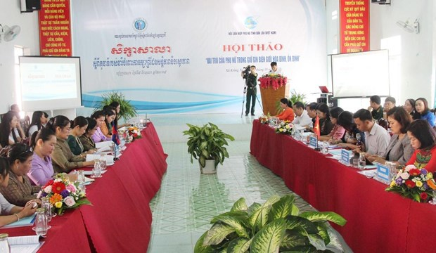 Workshop highlights women's role in Vietnam-Cambodia border protection hinh anh 1
