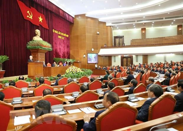 Fourth working day of Party Central Committee's 11th session hinh anh 1
