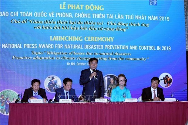 First national press award for disaster prevention launched hinh anh 1