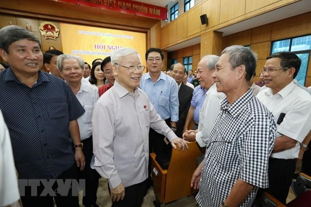 Hanoi voters confident in Party, State leadership hinh anh 1