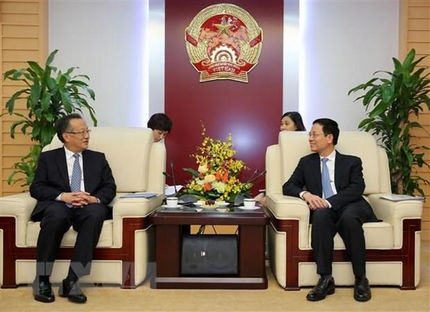 Information minister receives Xinhua News Agency's Vice President hinh anh 1