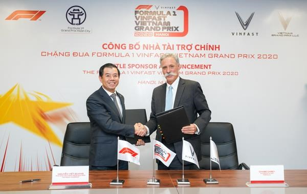 Vinfast announced as F1 Vietnam GP's title sponsor hinh anh 1