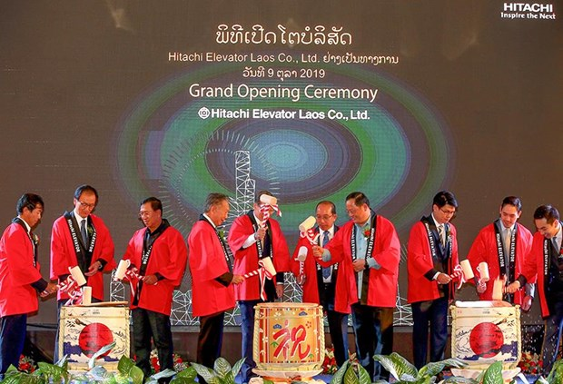 Japanese electronics giant Hitachi opens sales-services unit in Laos hinh anh 1
