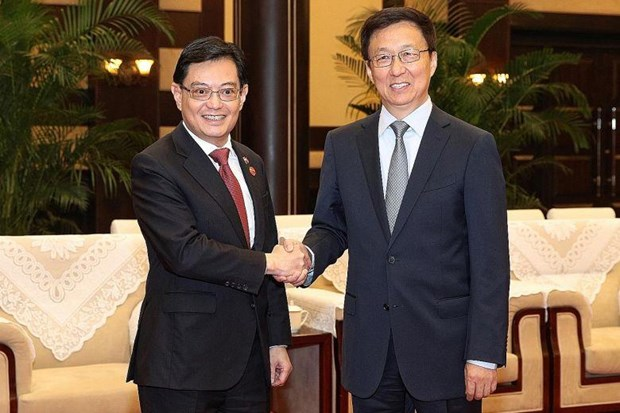 Singapore, China sign nine cooperation agreements, MoUs hinh anh 1