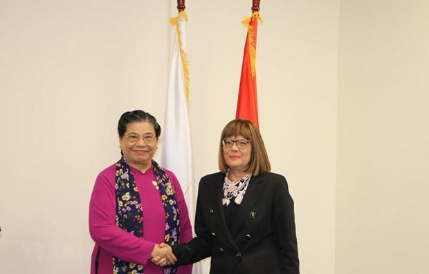 NA Vice Chairwoman meets top Serbian legislator hinh anh 1