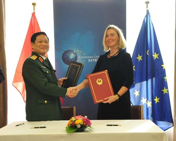 Vietnam, EU sign Framework Participation Agreement hinh anh 1