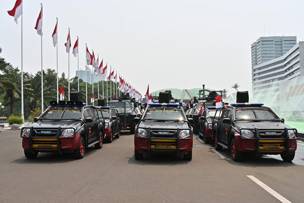 Indonesia enhances security ahead of presidential inauguration hinh anh 1