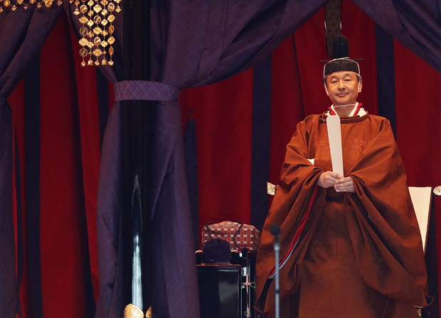 Prime Minister attends Japanese emperor's coronation ceremony hinh anh 1